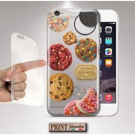 Cover - 'cookies close up' TRASPARENTE biscotti dolci colori confetti carino OREO divertente Oppo