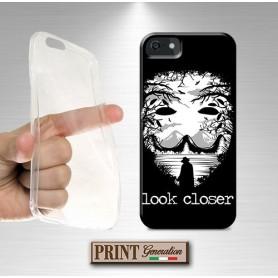 Cover - 'THE MASK look closer' maschera HALLOWEEN paesaggio dark horror anonymous VIVO
